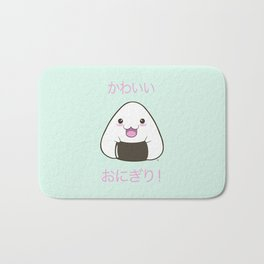Cute Onigiri Kawaii ^.~ Bath Mat