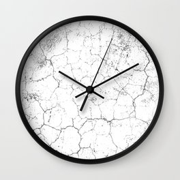 Old Wall Paint Pattern Wall Clock