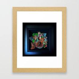 2 Caballeros and a Koi Framed Art Print