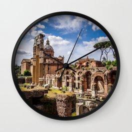 Roman Ruins Wall Clock