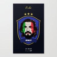pirlo Canvas Prints featuring Pirlo by Rudi Gundersen