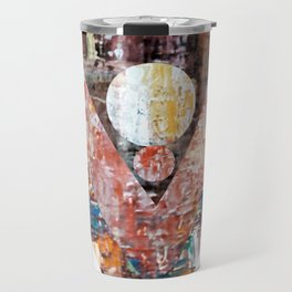 The blue line triangles II Travel Mug