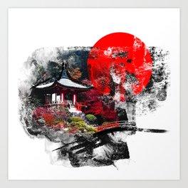 Abstract Kyoto Art Print