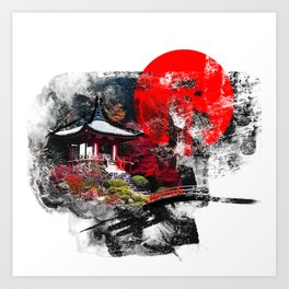 Abstract Kyoto Art Print