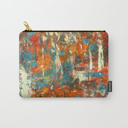 An Oasis In A Desert Abstract Painting Carry-All Pouch