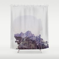 the national Shower Curtains featuring National Guard by PecDesign