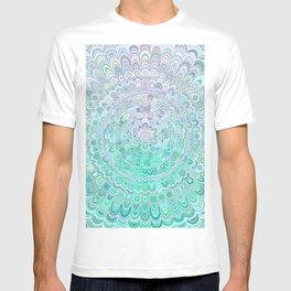 Turquoise Ice Flower Mandala T-shirt