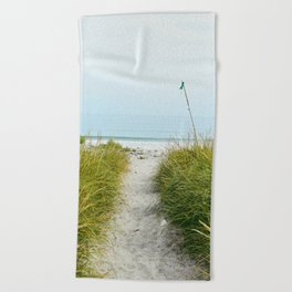 Beach Path to the Sea Beach Towel