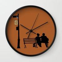 manhattan Wall Clocks featuring Manhattan by FilmsQuiz