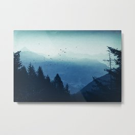 Blue Valmalenco - Alps at sunrise Metal Print