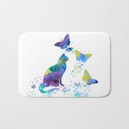 Colorful Cat Art Bath Mat