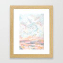 Dissipate - Bright Colorful Ocean Seascape Framed Art Print