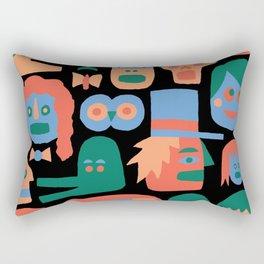 COLORFUL FACES Rectangular Pillow