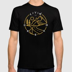 Livin' the Dream Black MEDIUM Mens Fitted Tee