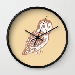 Barn Owl Art Wall Clock