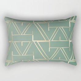 Deco Gold & Turquoise Rectangular Pillow