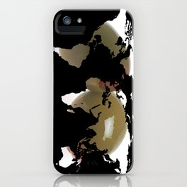 World Map Silhouette - Martini Olives iPhone Case
