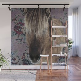 floral Icelandic pony Wall Mural