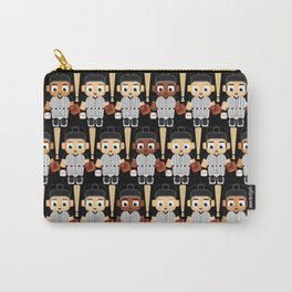 Baseball Black and White - Super cute sports stars Carry-All Pouch