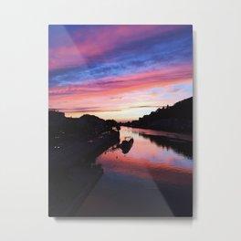 European Pink Sunset Metal Print