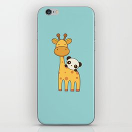 Cute and Kawaii Giraffe and Panda iPhone Skin