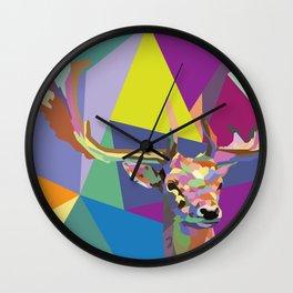 POP Deer Wall Clock