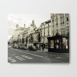 Streets of Paris Metal Print