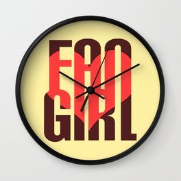 FAN GIRL Wall Clock