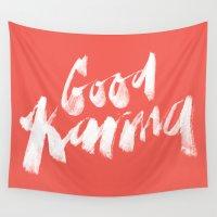 karma Wall Tapestries featuring Good Karma by PAZWAZ
