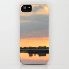 Sunset at horsey mere iPhone Case