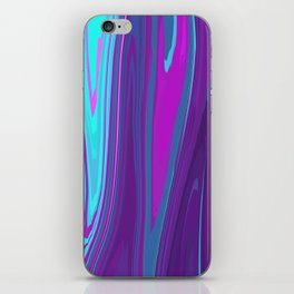 Pink, Purple, and Blue Waves 2 iPhone Skin