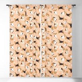 beagle scatter peach Blackout Curtain