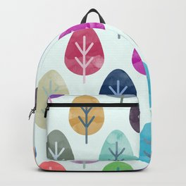 Watercolor Forest Pattern Backpack