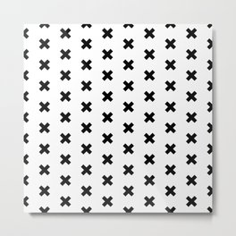 CROSS ((black on white)) Metal Print