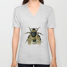 Vintage Bee Illustration Unisex V-Neck