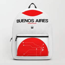 Buenos Aires Red Subway Map Backpack