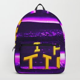 I FEEL TIRED Aesthetic Vaporwave Glitch for depressed boys design Backpack