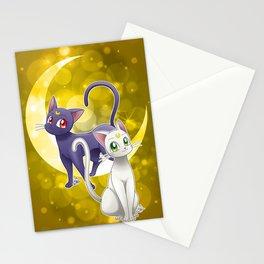 Luna & Artemis (Sailor Moon Crystal edit.) Stationery Cards