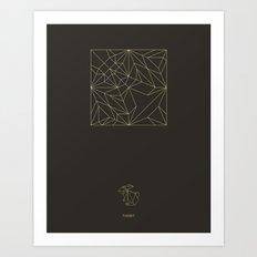 Decogami Rabbit Art Print