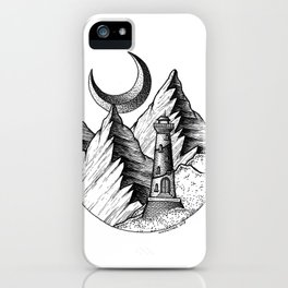 A lighthouse in a stupid place iPhone Case