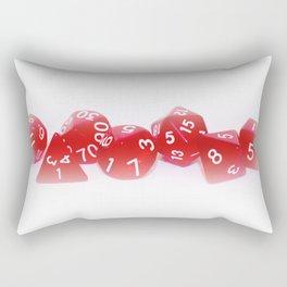Red Gaming Dice Rectangular Pillow