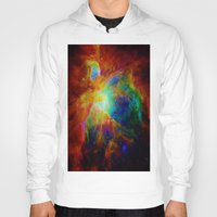 nebula Hoodies featuring Orion NEBula  : Colorful Galaxy by 2sweet4words Designs