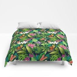 Tropical Lush Sanctuary, A Bohemian Paradise Comforters