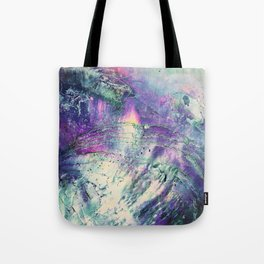 Abstract Purple Abalone Shell Tote Bag