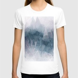 Ameythist Crystal Inspired Modern Abstract T-shirt