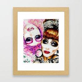 Upside Down Girl Glen Alen & Bianca Del Rio Framed Art Print