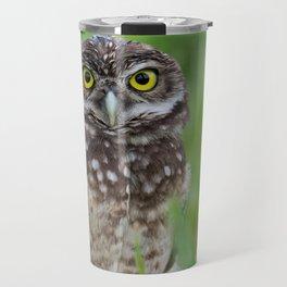 Burrowing Owl Portrait Travel Mug
