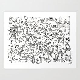 Dogland by Drü and James Art Print