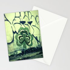Gritty alley shamrock Stationery Cards