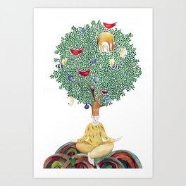 Under the Fig Tree Art Print